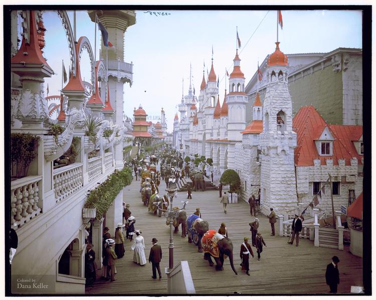 Coney Island, New York, circa 1905, Danakeller.com